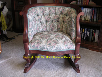 rocker after upholstery
