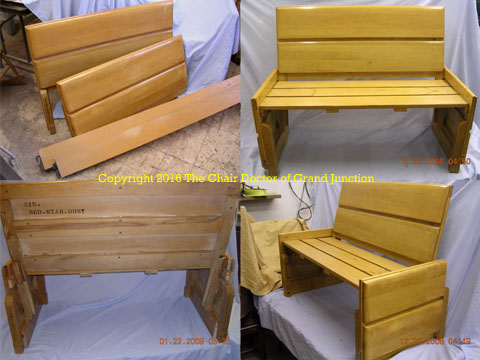 maple bed to bench
